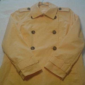 LL Bean raincoat belted vintage trench yellow